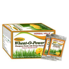 Green Food Supplement - Herbal Hills Wheat O Power With Orange Flavour (sachet) 30 Sachet
