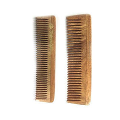 Joybynature He and She Neem Wooden Pocket Comb