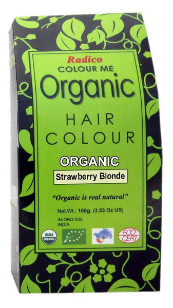 Hair Color - Radico Colour Me Organic Powder Hair Color Strawberry Blonde 100gm