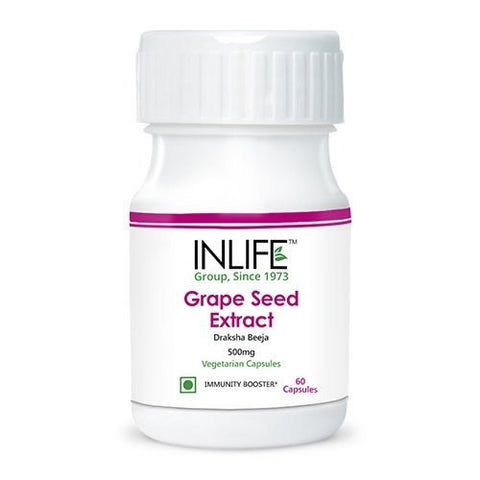 Health Care - Inlife Pharma Grape Seed Extract 500mg 60 Veg Capsules