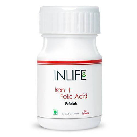 Health Care - Inlife Pharma Iron + Folic Acid 60 Tablets