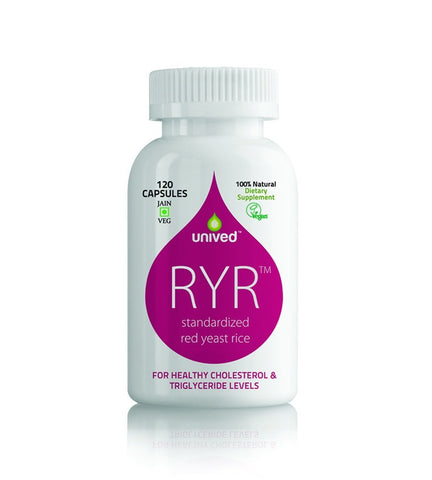 Heart Diseases - Unived Ryr -Cholesterol Control -120 Capsules