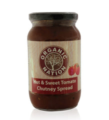 Jams & Spreads - Organic Nation Hot & Sweet Tomato Chutney Spread 450gm