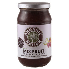 Jams & Spreads - Organic Nation Mix Fruit Conserve Spread 450gm