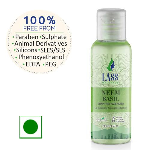 Lass Neem & Basil Face Wash
