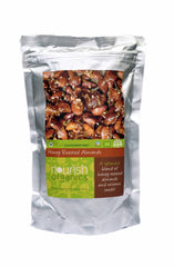 Nuts And Dry Fruits - Nourish Organics Honey Roasted Almonds 120gm