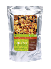 Nuts And Dry Fruits - Nourish Organics Honey Roasted Cashews 120gm