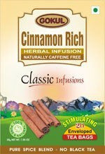 Organic Tea - Gokul International Cinnamon Rich 20 Tea Bags
