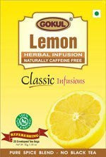 Organic Tea - Gokul International Lemon Tea 20 Tea Bags