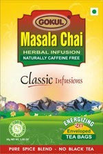 Organic Tea - Gokul International Masala Chai 20 Tea Bags