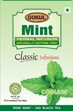 Organic Tea - Gokul International Mint Tea 20 Tea Bags