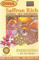 Organic Tea - Gokul International Saffron Rich 20 Tea Bags
