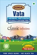 Organic Tea - Gokul International Vata Tea 20 Tea Bags