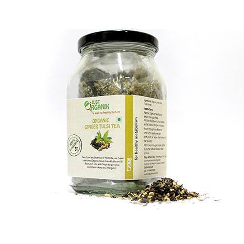 Organic Tea - Just Organik Organic Ginger Tulsi Tea Loose 40gm