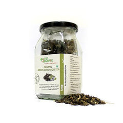 Organic Tea - Just Organik Organic Green Cardamom Tea 75gm