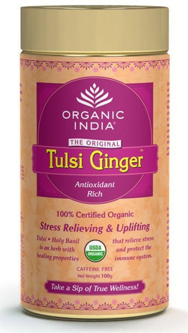 Organic Tea - Organic India Tulsi Ginger 100gm