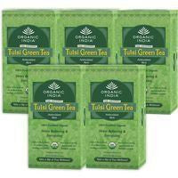 Organic Tea - Organic India Tulsi Green Tea (Pack Of 5)