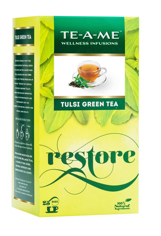 Organic Tea - Te-a-me Natural Tulsi Green Tea (25 Tea Bags)