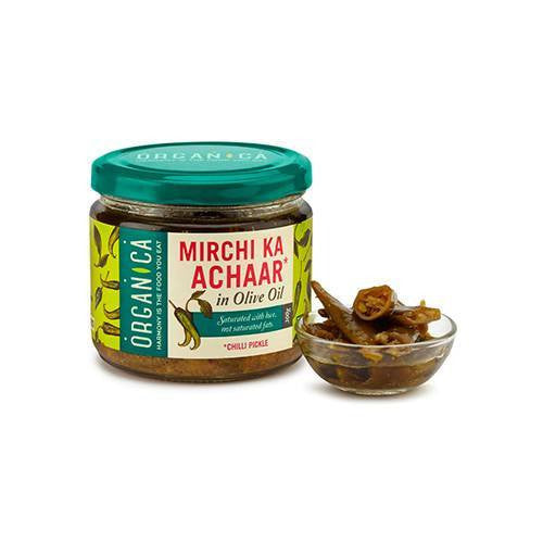 Pickle - Organica Olive Oil Chilli Pickle 300gm
