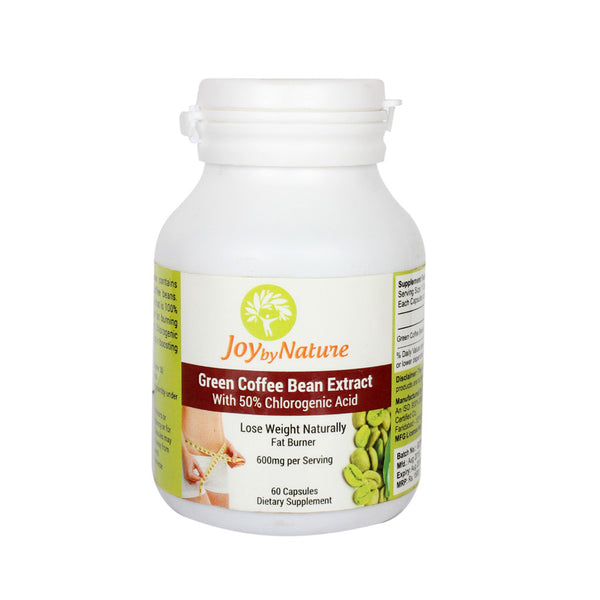 Joybynature Green Coffee Bean Extract With 50% CGA 600mg - 60 Capsule