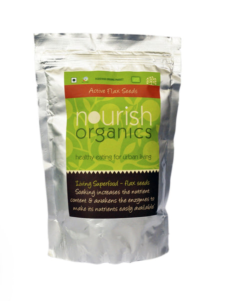 Ready To Eat - Nourish Organics Active Flax Seeds 200gm
