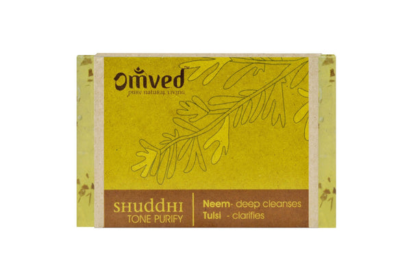 Skin Care - Omved Shuddhi Neem Tulsi Bath Bar 125gm