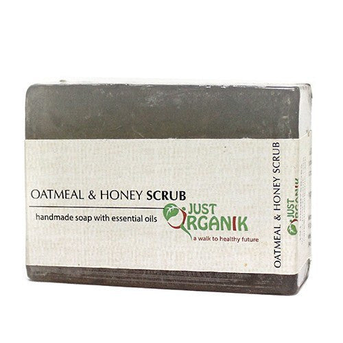 Soaps - Just Organik Oatmeal & Honey Scrub Soap 125gm