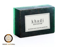 Soaps - Khadi Natural Apricot Scrub Soap 125gm