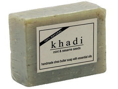 Soaps - Khadi Natural Mint & Sesame Seeds Soap 100gm