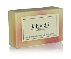 Soaps - Khadi Natural Saffron Soap 125gm