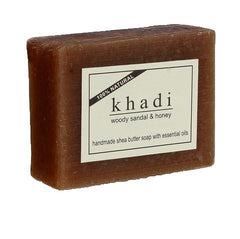 Soaps - Khadi Natural Woody Sandal & Honey Soap 100gm