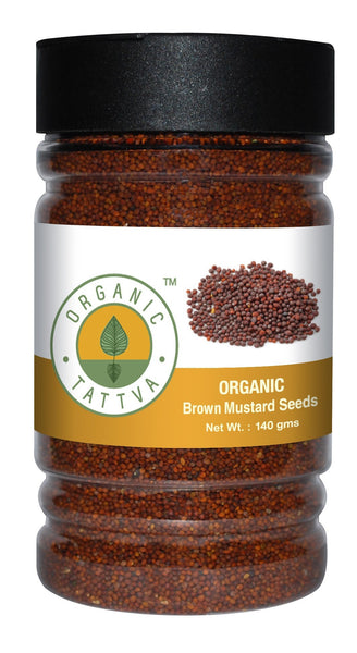 Spices And Condiments - Organic Tattva Organic Brown Mustard (rai) 140gm