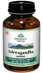 Stomach Related - Organic India Ashwagandha 60 Capsules Bottle