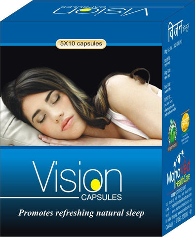 Stress Management - Vision - Sleeping Problem, Stress, Anxiety, Hight Blood Pressure, Depression Capsules
