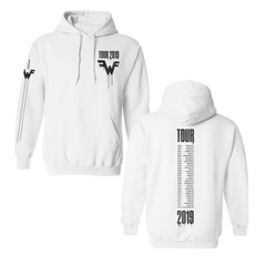 2019 Tour White Pullover Hoodie
