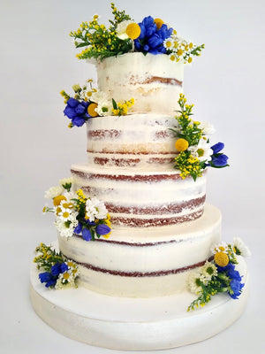 Seminaked Wedding cake