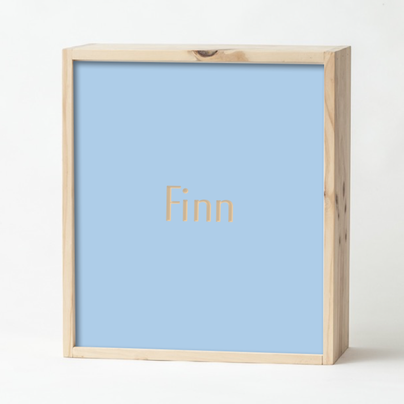 Pale Blue Keepsake Box