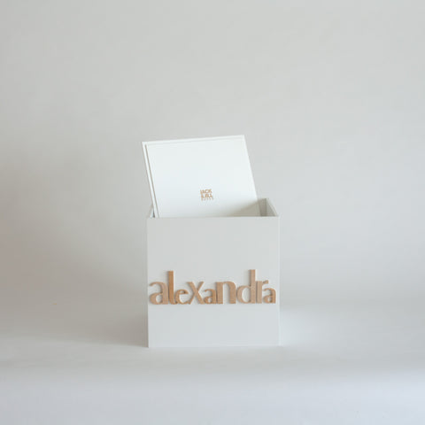 White Personalised Gift Box