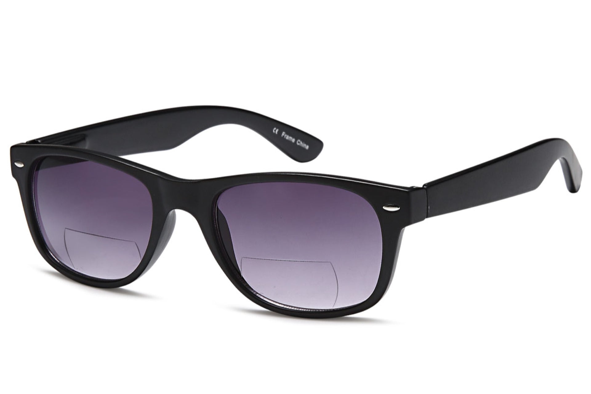pair of gamma ray bifocal sunglasses with purple lens tint