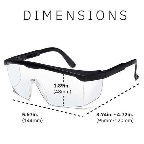 Gamma Ray Protective Anti-Fog Safety Glasses Pack of 5