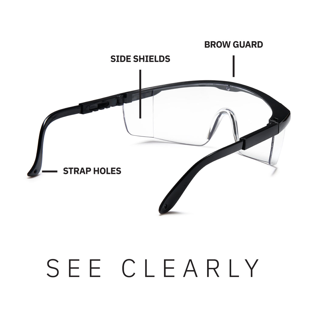 Protective Anti-Fog Adjustable Safety Glasses