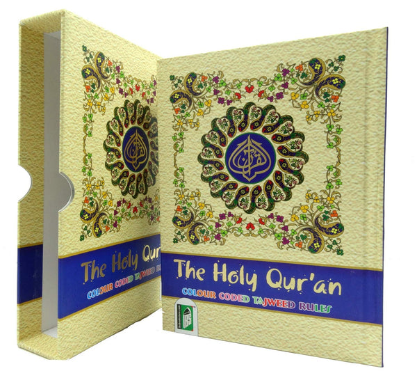 The Holy Quran - 13 Lines Colour Coded Tajweed Rules/Manzils (Indo Pak Script) ~A5 Size - Islamic Impressions