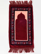 Childrens Prayer Mat - Soft - Burgandy & Blue