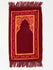 Childrens Prayer Mat - Soft - Burgandy & Yellow - Islamic Impressions