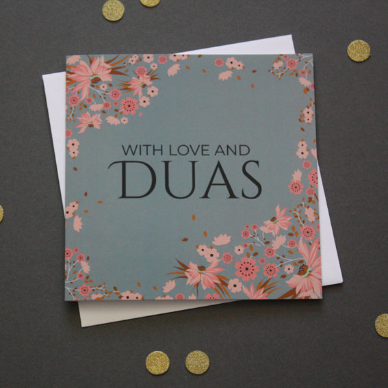 With Love and Duas Card - Islamic Impressions