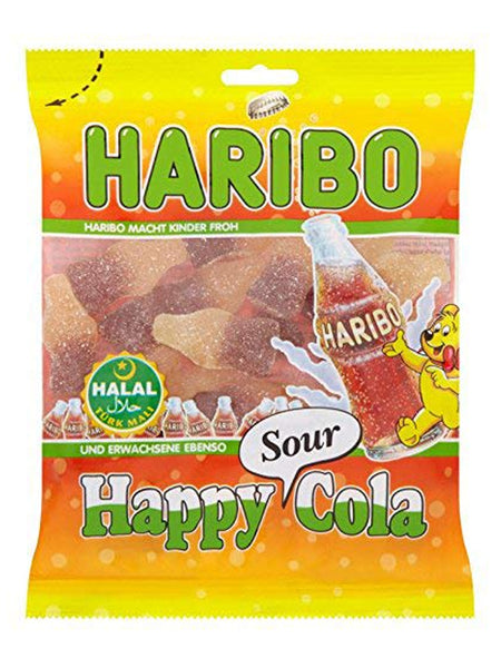 Haribo Sweets - Happy Sour Cola - 100g Bag - Islamic Impressions