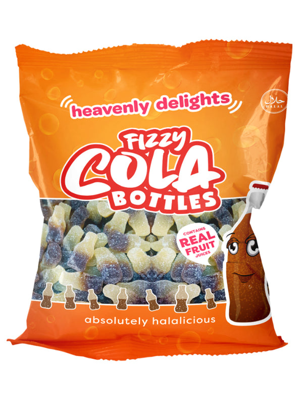 Fizzy Cola Bottles - Heavenly Delights - 80g Bag - Islamic Impressions