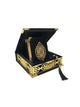 Gift Box - Quran and Tasbeeh in Felt Box - Gold or Silver Decal (1061)
