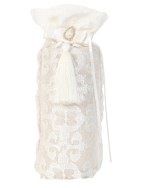 Gift Set - Prayer Mat in Lace Crochet Bag (1161) - Islamic Impressions