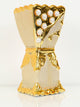 Bakhoor Burner - Ceramic - Gold Pearls